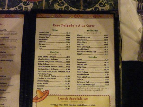 Mexican Restaurant Menu in Spanish And English Mexican Restaurant Menu
