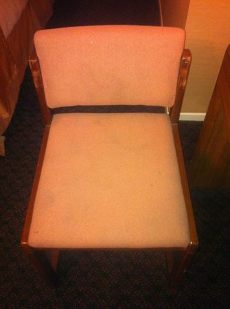 Howard Johnson Torrance: Stained chair #2...gross!