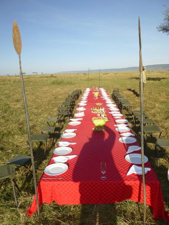 Kilima Camp: Breakfast in the Mara