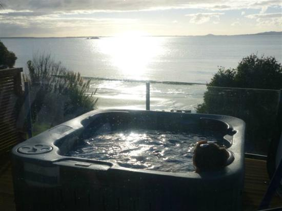 Coopers Beach, New Zealand: Spa pool