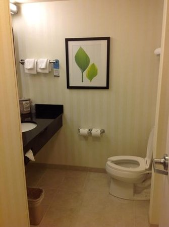 Fairfield Inn &amp; Suites Melbourne Palm Bay/Viera: nice size bathroom.
