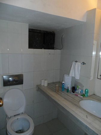Rajdeep Hotel: The tiniest bathroom. It just didn't feel clean and with barely tepid water, not a nice place to