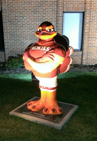Blacksburg, VA: The hotel security guard (?) - definitely in Hokie country!