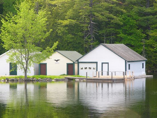 Grand Lake Stream, Maine: Boat House on Lake