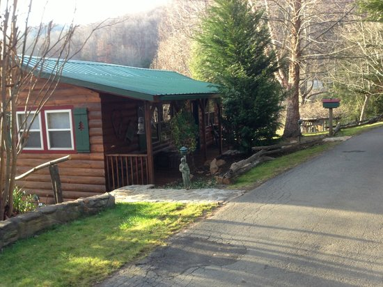 Mountain Springs Cabins: Katydid front view