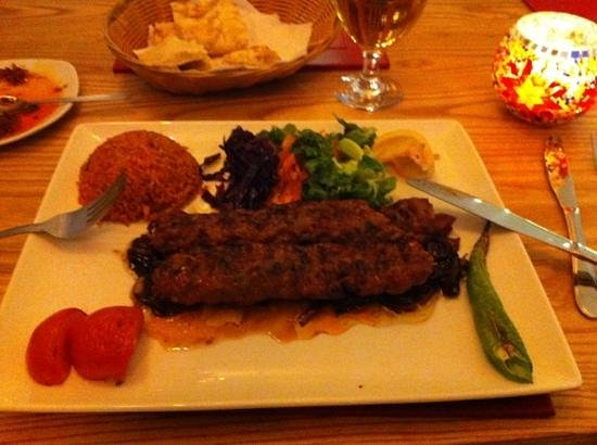Minced lamb shush kebab picture of anatolia turkish for Anatolia turkish cuisine