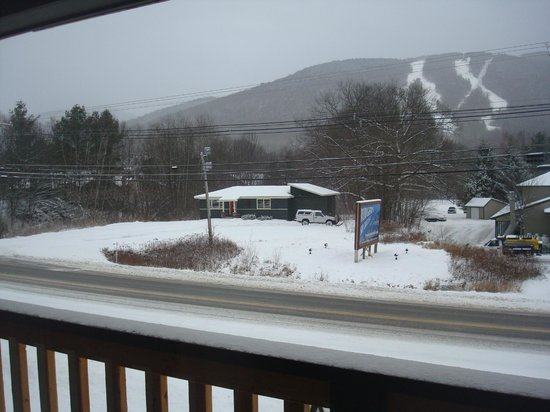 The Kancamagus Lodge: view from the balcony
