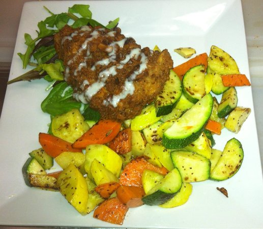 , : Macadamian Nut-Crusted Grouper