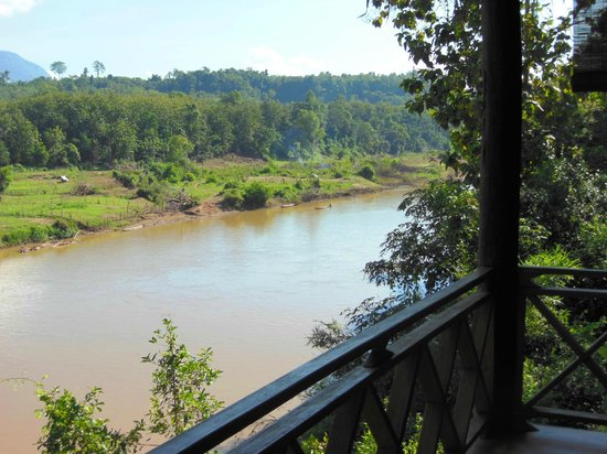 Shangri Lao: View over river from our room