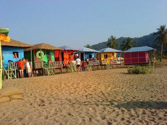 Agonda, India: saxony beach cottages