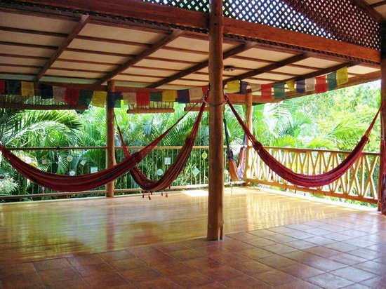 Casa Zen: Hammocks on the top floor yoga deck
