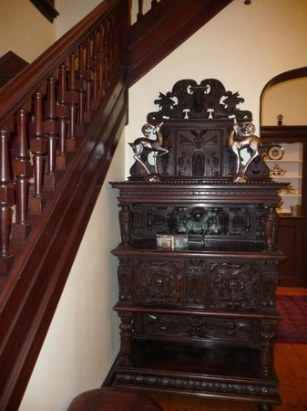 Captain A. V. Nickels Inn: typical furniture stairway to rooms