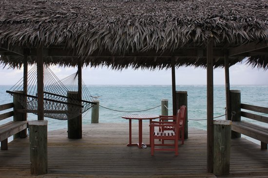 Compass Point Beach Resort: dock at hotel, very cool