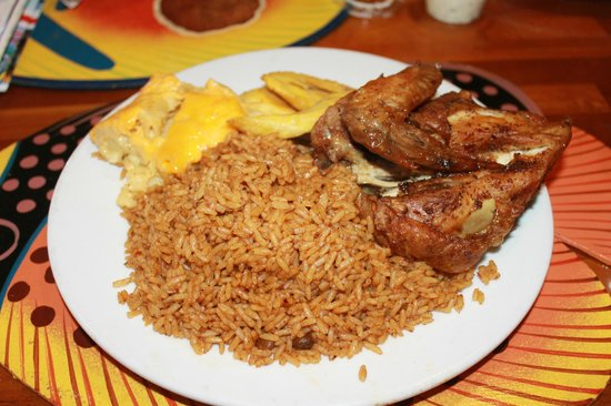 Chicken rice and peas and fried plantains picture of for Good fried fish near me