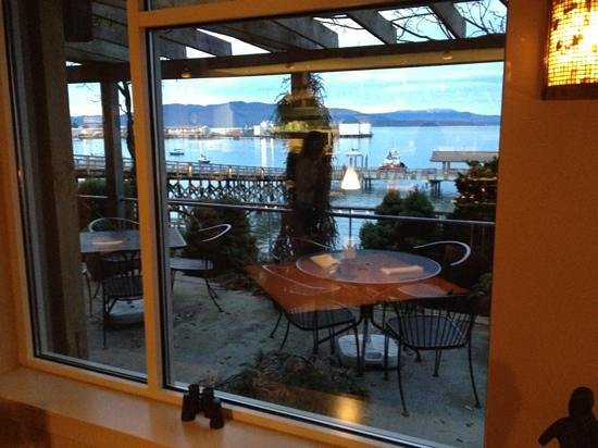 The Chrysalis Inn & Spa: view from the restaurant by the bay. binoculars are available to use