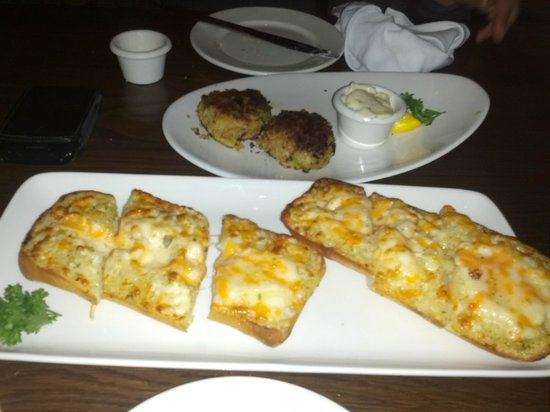 ... Steakhouse & Bar - Fallsview Photo: Garlic cheese toast and crab cakes