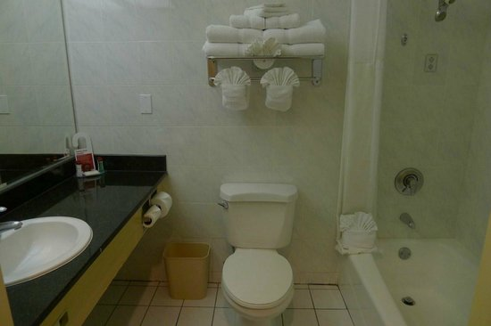 Ramada Plaza Anaheim Resort: Clean Bathroom