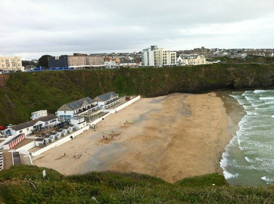 Tolcarne Beach Apartments: from above