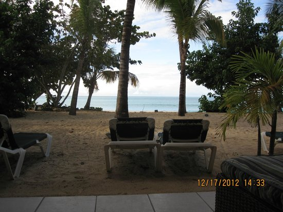 Galley Bay Resort: View from patio of the beachfront cottage