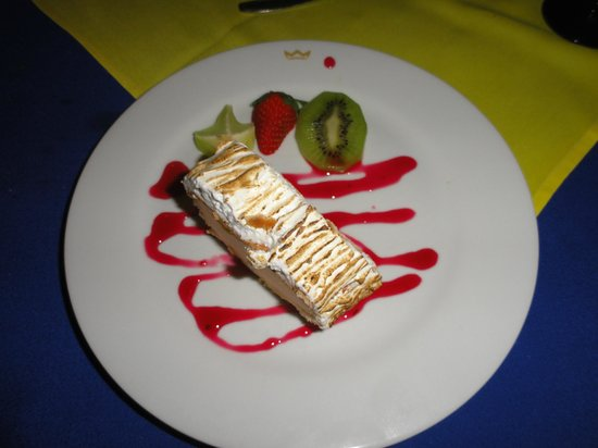 Riu Cancun: Steak restaurant dessert