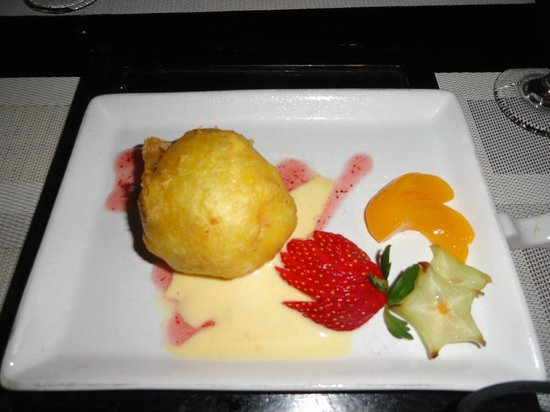 Riu Cancun: dessert at Japanese restaurant