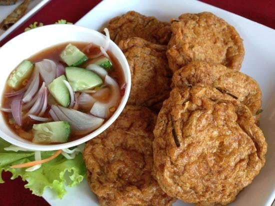 Fish cake picture of chiang mai floating restaurant for Mai mai fish