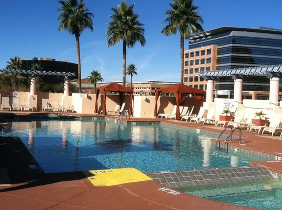 Roof top pool view 2 for Tempe swimming pool