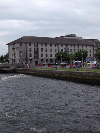 Jurys Inn Galway : The view of the hotel from across the river !!