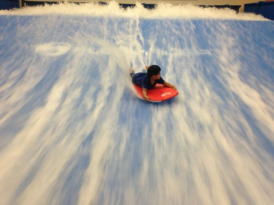 Vacation Villas at Fantasy World I: My 6 year old son doing fantasy surf