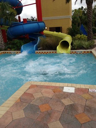 Vacation Villas at Fantasy World I: The slides-the blue one is the slower one and the yellow one is the super fast one