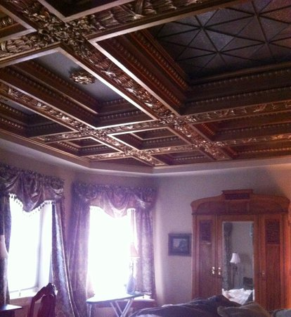 The Sayre Mansion Inn: Room 21 ceiling