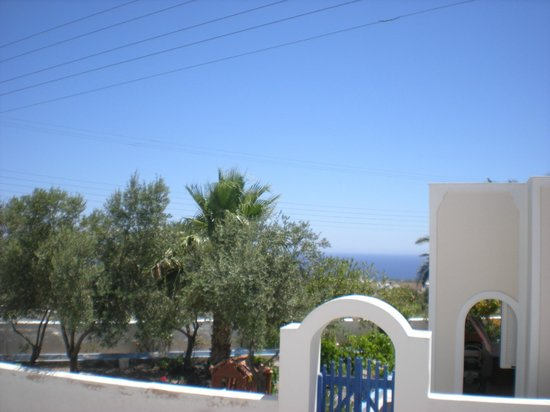 Anna Pension: View from front door of Hotel