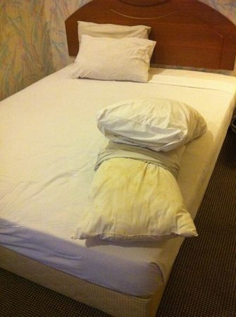 Goodway Hotel - Batam: stain an smelly pillows