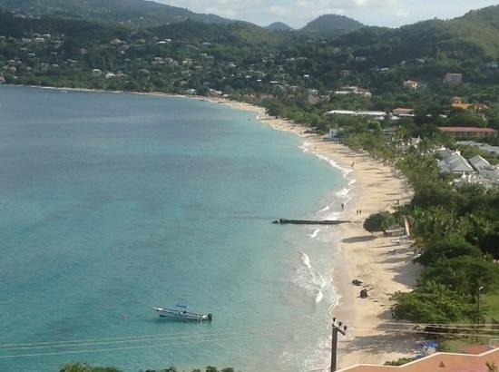 The Flamboyant Hotel & Villas: grand anse beach, the view from our balcony.