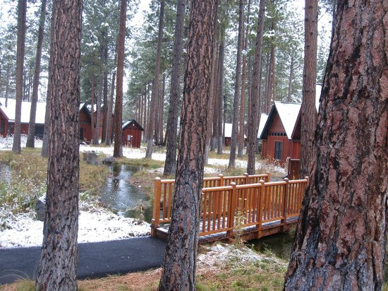 Five Pine Lodge & Spa: It even snowed a little!