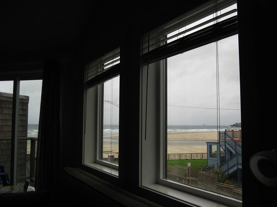 Land's End at Cannon Beach: View from inside our room