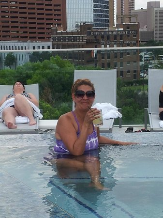 Omni Dallas Hotel: In the pool