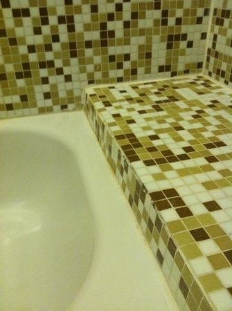 Peninsula Island Resort & Spa: black mold in shower
