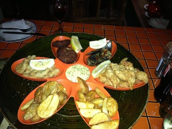 CAFE HAVANA: sea food platter for 2