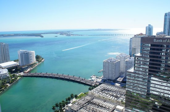 Viceroy Miami: view from room of the bay