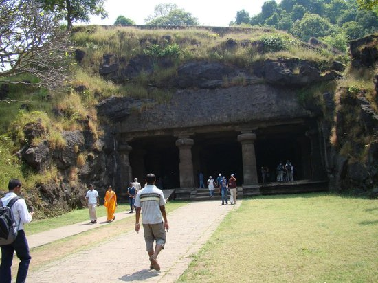 Elephanta Caves: The Main Cave Entrance