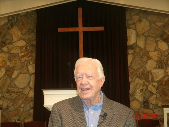 Plains, Georgien: President Carter Ask Those In The Congregation Where Have They Come From