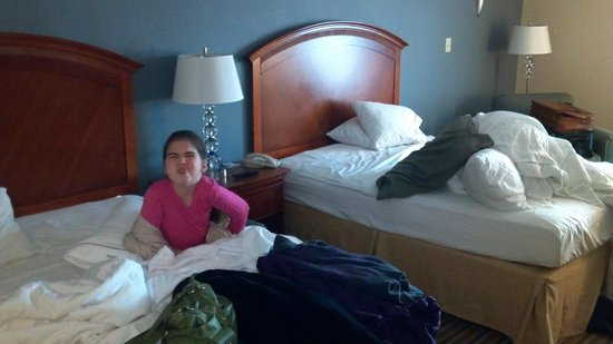 Holiday Inn Express &amp; Suites: Comfortable beds. ( Optional Granddaughter ;-)