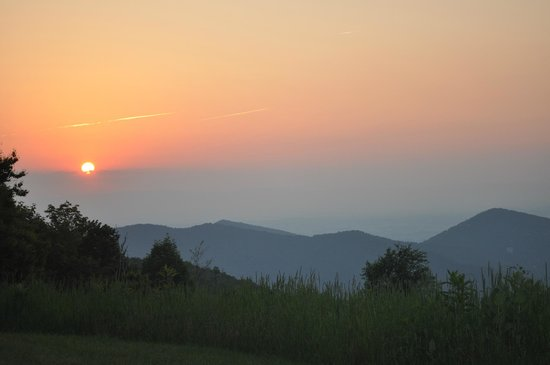Loft Mountain Campground: Sunset at SNP