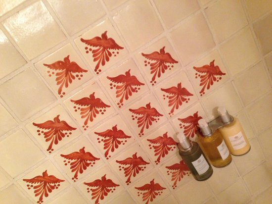 Inn of the Governors: Interesting shower tile