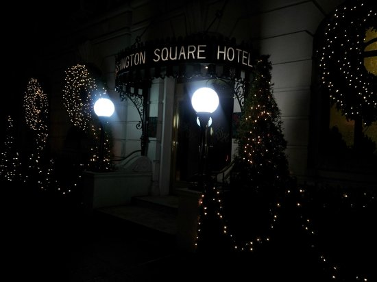 The beautiful welcome at the Washington Square Hotel