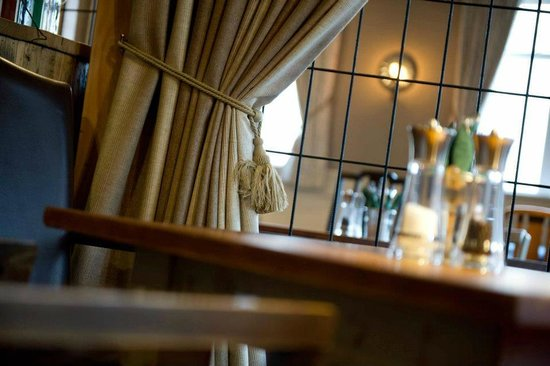 The Devonshire Arms: Curtains to provide warmth and privacy