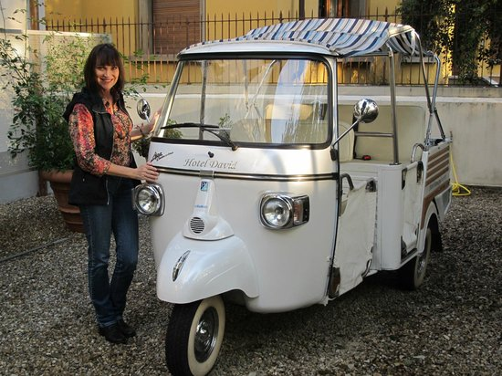 Hotel David: The Ape runabout.......