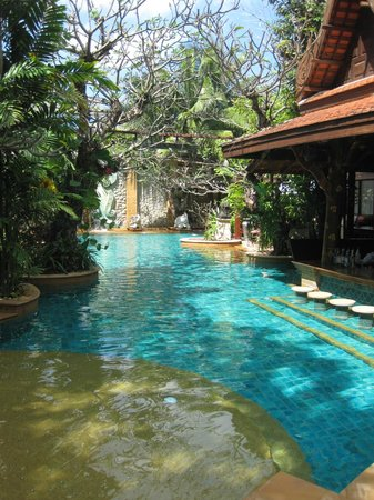 The Baray Villa: The  main pool area