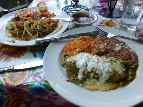Oyster Tacos and Enchiladas Verde - Picture of Acenar Modern Texmex ...